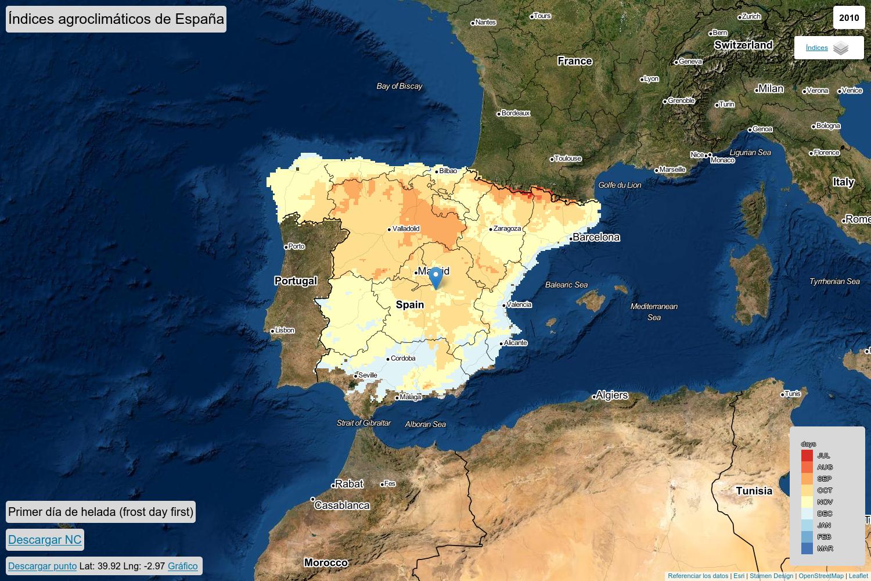 Spanish agroclimatic indices database